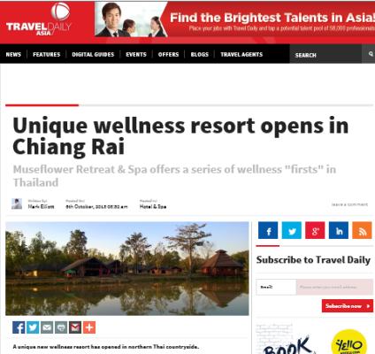 25. Travel Daily Asia Museflower Unique Wellness Launch Oct 6, 2015